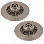 BRAKE DISC REAR PAIR RENAULT TWINGO 2007 2008 2009 2010 2011 2012 2013 2014 2015 SOLID 240mm WITH ABS RING & BEARING (1280)